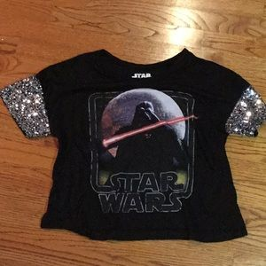 Star Wars Top with Sparkle Sleeves